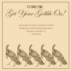 Thanksgiving Invite